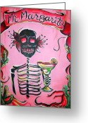 Kitchen Decor Greeting Cards - Mi Margarita Greeting Card by Heather Calderon