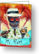 Coke Greeting Cards - Mi Rum Greeting Card by Heather Calderon