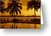 Trees Photograph Greeting Cards - Miami South Beach Romance Greeting Card by Monique Wegmueller