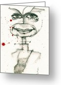 Dexter Greeting Cards - Michael C. Hall as Dexter Morgan Greeting Card by Mark M  Mellon
