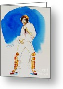 Michael Jackson Greeting Cards - Michael Jackson - 30th Anniversary Greeting Card by Hitomi Osanai