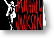 King Of Pop Greeting Cards - Michael Jackson 1 Greeting Card by Andrew Fare
