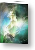 Impressionism Art Greeting Cards - Michael Jackson 15 Greeting Card by Miki De Goodaboom