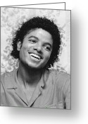 Michael Jackson Photo Greeting Cards - Michael Jackson 1981 Greeting Card by Chris Walter