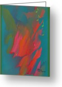 Michael Jackson Greeting Cards - Michael Jackson Abstract Greeting Card by Sherri  Of Palm Springs