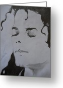 Michael Jackson Greeting Cards - Michael Jackson Greeting Card by Ahmed Mustafa