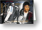 Michael Jackson Greeting Cards - Michael Jackson Greeting Card by Booker Poole