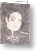 Michael Jackson Greeting Cards - Michael Jackson Greeting Card by Chiwai Timothy