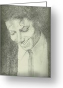 Michael Jackson Greeting Cards - Michael Jackson Greeting Card by Jami Cirotti