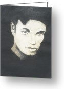 Michael Jackson Pastels Greeting Cards - Michael Jackson Greeting Card by Jose Valeriano