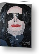 Michael Jackson Greeting Cards - Michael Jackson King of Pop Greeting Card by Jeannie Atwater Jordan Allen