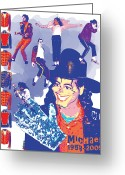 Michael Jackson Greeting Cards - Michael Jackson Greeting Card by Mark Armstrong