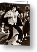 Michael Jackson Greeting Cards - Michael Jackson Moves Greeting Card by Chris Walter
