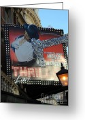 Michael Jackson Photo Greeting Cards - Michael Jackson Musical Greeting Card by Sophie Vigneault