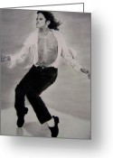 Michael Jackson Greeting Cards - Michael Joseph Jackson Greeting Card by Mickey Raina