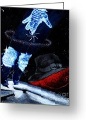 Michael Jackson Greeting Cards - Michael Magic Greeting Card by Cassandra Allsworth