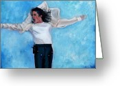 Producer Greeting Cards - Michael Greeting Card by Vel Verrept