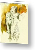 Pieta Painting Greeting Cards - Michaelangelos Palestrina Pieta Greeting Card by Andrew Taylor
