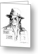 Music Icon Greeting Cards - Michaels Jacket Greeting Card by David Lloyd Glover