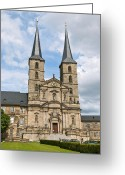 Bamberg Greeting Cards - Michaelsberg Abbey in Bamberg Greeting Card by Design Windmill