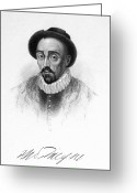 Autograph Greeting Cards - Michel Eyquem De Montaigne Greeting Card by Granger