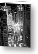 Long Street Greeting Cards - Michigan Avenue Greeting Card by George Imrie Photography