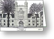 College Buildings Images Greeting Cards - Michigan Greeting Card by Frederic Kohli