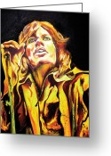 Rolling Stones Painting Greeting Cards - Mick Greeting Card by Jacqueline DelBrocco