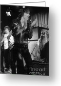 Rehearsal Greeting Cards - Mick Jagger 1970s London Greeting Card by Homer Sykes