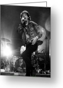 Rolling Stones Photo Greeting Cards - Mick Jagger 2 Greeting Card by Peter Aitchison