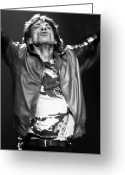 Rolling Stones Photo Greeting Cards - Mick Jagger 3 Greeting Card by Peter Aitchison