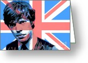 Rolling Stones Painting Greeting Cards - Mick Jagger Carnaby Street Greeting Card by David Lloyd Glover