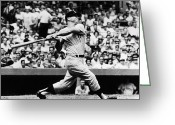 Home Run Greeting Cards - Mickey Mantle (1931-1995) Greeting Card by Granger