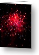 Pyrotechnics Greeting Cards - Micro Burst Greeting Card by Paul Mangold