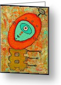 Debra Jacobson Greeting Cards - MicroCosmic Droid Greeting Card by Debra Jacobson