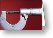Diameter Greeting Cards - Micrometer Screw Gauge Greeting Card by Andrew Lambert Photography