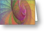 Round Shell Digital Art Greeting Cards - Mid-Afternoon Rest Greeting Card by Angela A Stanton