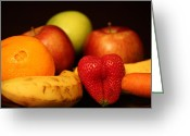Mango Greeting Cards - Mid Night Snack Greeting Card by Andrea Nicosia