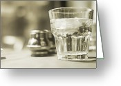 Drinking Water Greeting Cards - Midday, Kensington Market Greeting Card by Maureen Vollum