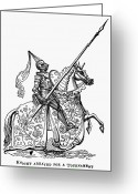 Jousting Greeting Cards - Middle Ages: Knighthood Greeting Card by Granger