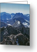 Crest Greeting Cards - Middle Palisade And The Palisade Crest Greeting Card by Gordon Wiltsie