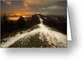 Illuminations Greeting Cards - Midnight At Malvern Hills Greeting Card by Angel  Tarantella