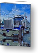 Truck Shows Greeting Cards - Midnight Blue Greeting Card by Randy Harris
