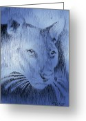 Robbi Musser Greeting Cards - Midnight Blue Greeting Card by Robbi  Musser
