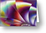 Shell Texture Greeting Cards - Midnight Cocoon Greeting Card by Dan Turner