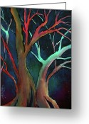 Quite Greeting Cards - Midnight dance Greeting Card by Michael Lang