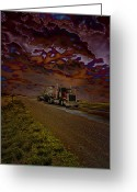 Forbidding Greeting Cards - Midnight Deisel Greeting Card by Bill Tiepelman