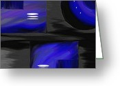 Abstracts Greeting Cards - Midnight Greeting Card by Ely Arsha
