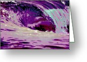 Surf Photography Greeting Cards - Midnight Monster Greeting Card by Brad Scott