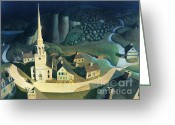 Paul Revere Greeting Cards - Midnight Ride of Paul Revere Greeting Card by Pg Reproductions